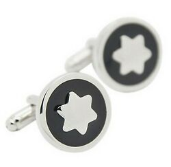 Quality Star Cufflinks six pointed presented in black velvet bag. Get the look GBP 9.95