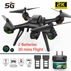 Holy Stone HS130D GPS 2K Drone HD Wifi camera FPV Quadcopter 5 Battery Follow Me $159.99