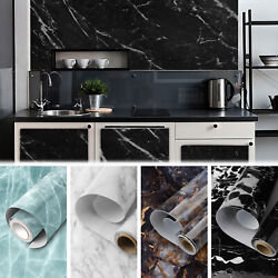 9.8ft Marble Contact Paper Self Adhesive Kitchen Countertop Sticker Vinyl Film $14.97