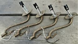LOT of 4 vintage Matching Brass Chandelier Arms $25.00