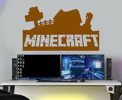 Minecraft Wall Stickers gaming wall stickers kids wall Decals Kids Bedroom GBP 16.16
