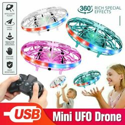 Mini UFO Drone Flying Infrared Aircraft Flying Funny Kids Toys RC Remote Control $27.99