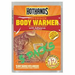 5 Packs Of Hot Hands Body Warmers with Adhesive Up to 12 Hours of Heat $7.40