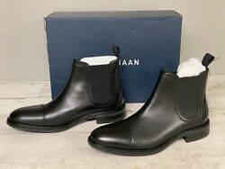 Cole Haan Mens Conway Leather Waterproof Chelsea Boot Black 7.5 M US New $74.99