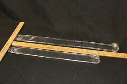 Vintage Mid Century Murano Art Glass Clear hanging parts $95.00