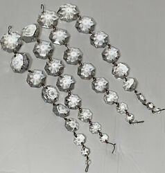 Vintage Lot of 4 Clear Octagon Shaped Prisms Hanging Chandelier Replacements $23.98