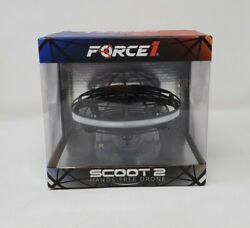 Force1 Scoot 2 LED Hand Operated Drone Kids or Adults Hands Free Matte Black $19.99