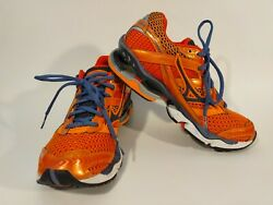 Mizuno Wave Creation 12 Womens Size 9 W Orange Blue Trail Running Shoes Sneakers $48.00
