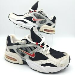 Vintage Rare Nike Max Air Cross Training Black Red White Shoe Men Sz 9.5