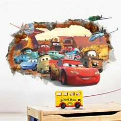 3D MCQUEEN MATER OUT CARS 🔥WALL STICKERS KIDS BOY ROOM HOME DECOR 🔥DECAL MURAL $11.99