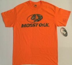 Mossy Oak Orange Camo Short Sleeve Crew T Shirt
