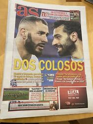 """6 4 2021 Real Madrid v Liverpool day of match paper """"AS"""" GBP 9.99"""