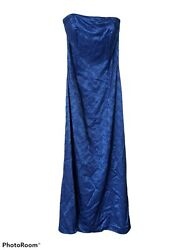 Jessica McClintock Blue Cocktail Party Prom Ball Strapless Dress with scarf Sz 6 $25.00