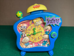 Nickelodeon Rugrats Talking Alarm Clock 1998 RARE Works Tommy Angelica VTG 90s $29.99