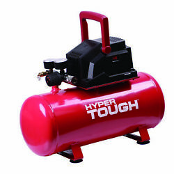 Best Hyper Tough 3 Gallon Oil Free Air Compressor New For Inflation 100psi Red $64.99