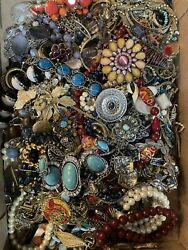 Jewelry Vintage Modern Huge Lot Craft Junk Wearable Over One Full Pound $25.00
