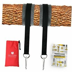 Tree Swing Hanging Kit Set Of 2 Holds 2200 LBS Extra Long 10 ft Straps 2 $29.32