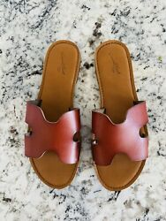 Womens Target Universal Thread Jenny Sandal Cognac Size 8 SOLD OUT Blogger Fav $18.00