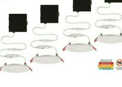 Commercial Electric Ultra Slim 4in Color Selectable Canless Recessed LED Kit 4PK