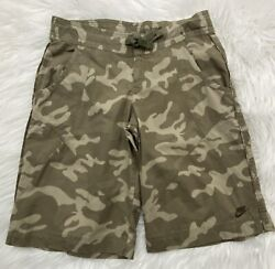 Nike Camouflage Shorts Women#x27;s X Small 0 2 Chino Stretchy Style #239536 900