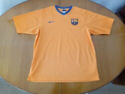 Barcelona Training Shirt Size XL Nike Orange Football FCB Barca
