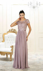 2021SHORT SLEEVE EVENING FORMAL MOTHER of THE BRIDE GROOM DRESS CLASSY LONG GOWN $126.66