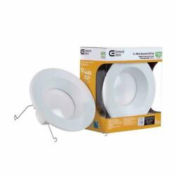 Commercial Electric Light 5 in. White Recessed LED Trim Dimmable 4 PACK