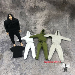 1:12 Hoodie Pants Trousers Clothes Fit 6#x27;#x27; SHF Fig Mfex Male Action Figure Body $11.48