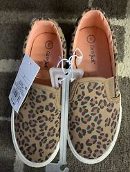 Cat And Jack Size 1 Girls Leopard Shoe $10.00