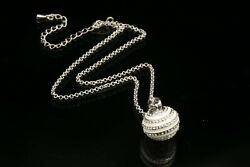 crystal stripe white ball pendant pendant silver plate necklace girl jewelry S45 $5.40