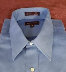 Nordstrom Mens Dress Shirt Blue Size 17 38 Reg. Fit Long Sleeve NWT 100% Cotton $10.50