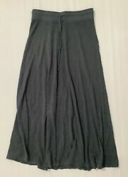 Hard Tail Womens Gray Flared Maxi Skirt Size M $45.00