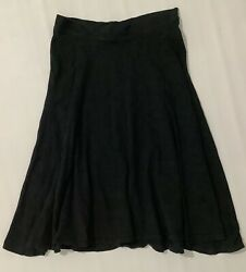 Hard Tail Womens Black Flared Knee Length Skirt Size XS $45.00