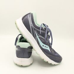 SAUCONY Cohesion 12 Womens Blue White Teal Running Shoes Size 11 $29.99