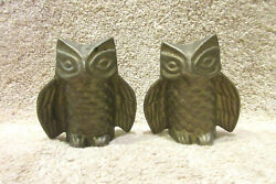 Pair Of Two Vintage Decorative Brass Owls Mid Century Modern 2.5quot; Tall $18.95