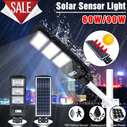 14000LM Commercial LED Solar Street Light Motion Sensor Dusk to DawnRemotePole