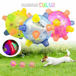 LED Jumping Flashing Dog Ball For Pets Dogs Toys Joggle Vibrating Color Changing