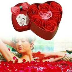 Girls Lovely Novelty Rose Soap Romance Flower Heart shaped Box Forever M5L3 C $6.24