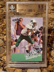 1998 Ultra Randy Moss BGS 9.5 RC with 2 BGS 10 Subgrades Iconic Card Image $149.95