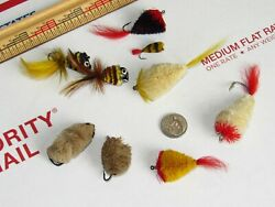 Vintage Fly Fishing Rod Lures Bass Bugs ST. CROIX Bees $25.00