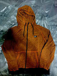 Nike Orange full zip jacket hoodie