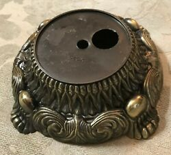 Antique Brass Finish Stamped Metal Ornate Lamp Base $9.99