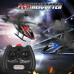 2CH Gyro Helicopter With Remote Control Altitude Hold RC Alloy Drone Toy Gift $23.20