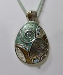 Lia Sophia #x27;ARTISTIC FLAIR#x27; Silver Tone amp; Mother of Pearl Pendant Pendant Only $9.99