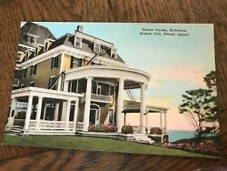 Ocean House Entrance Watch Hill Rhode Island RI Hand Colored Postcard $9.99