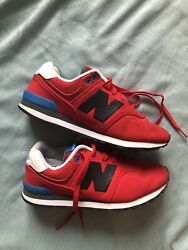 New Balance 574 Kids Boys Red Tennis Shoes Size 4y $18.00