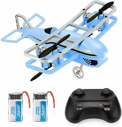 JJRC Mini Drone for Kids RC Nano Airplane Quadcopter Beginners with Blue $44.49