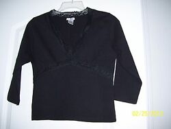 Airport black ¾ sleeves top size M