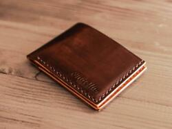 Classic Bifold Wallet Leather Mens Personalized Cash Manly Bifold Slim $99.00