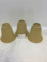 Lot Of 3 Bell Frosted Ceiling Fan Replacement Globes Covers $25.00